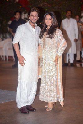 Shah Rukh Khan At The Ambani Residence For Ganesh Chaturthi Celebrations