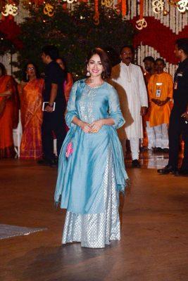 Celebrities At The Ambani Residence For Ganesh Chaturthi Celebrations