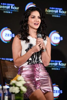 Sunny Leone At The Launch Of Karenjit Kaur Season 2