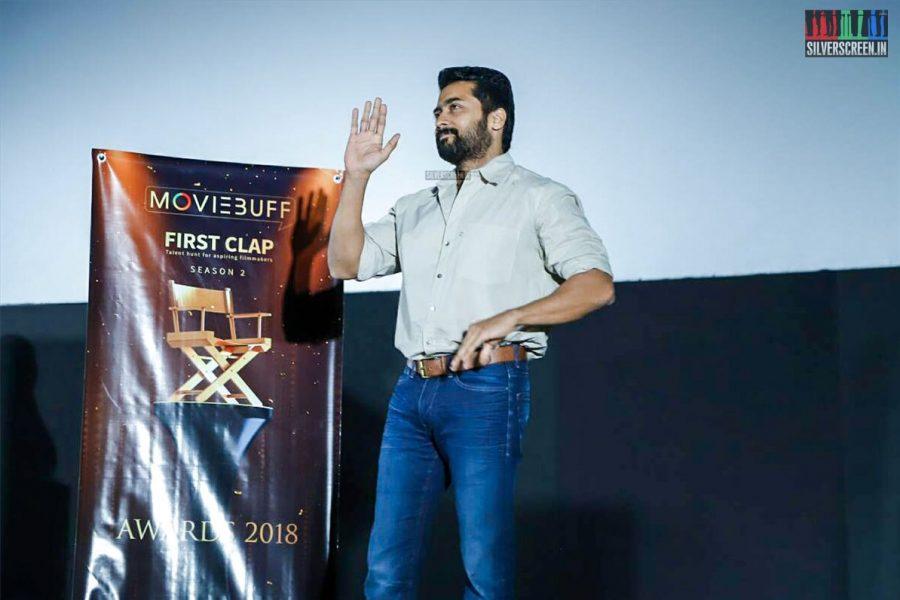 Suriya At The MovieBuff First Clap Awards Function Season 2