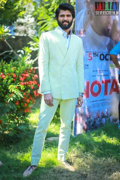 Vijay Devarakonda At The NOTA Press Meet