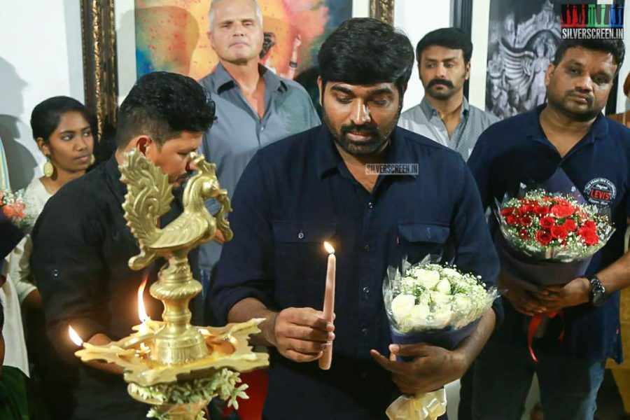 Vijay Sethupathi At The 'Medley of Art' by L Ramachandran Gallery Exhibition & Book Launch