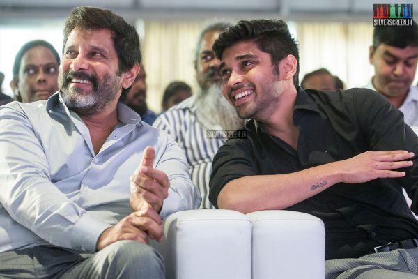 Vikram And Dhruv Vikram At The Varma Teaser Launch