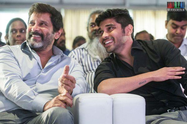 Vikram And Dhruv Vikram At The Varma Teaser Launch