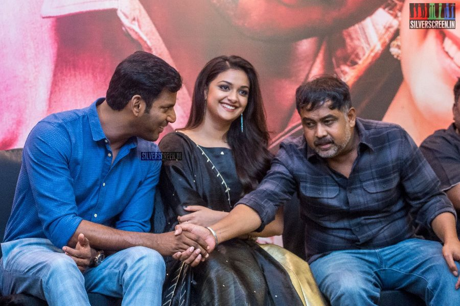 Keerthy Suresh, Vishal, Lingusamy At The Sandakozhi 2 Audio Launch