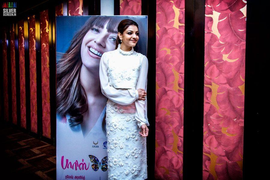 Kajal Aggarwal At The Paris Paris Movie Launch
