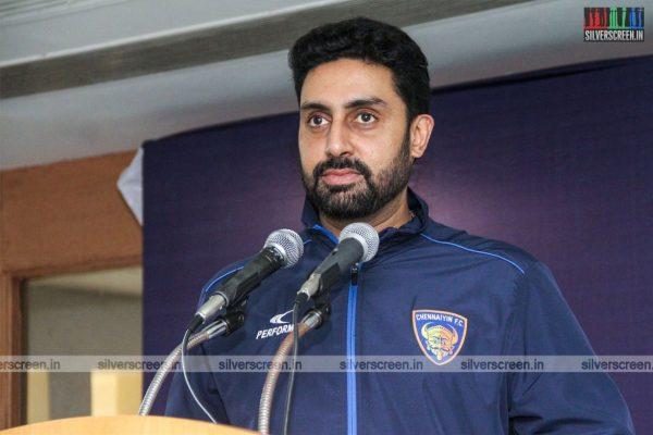 Abhishek Bachchan At The Launch Of 'Chennaiyin FC Soccer School'