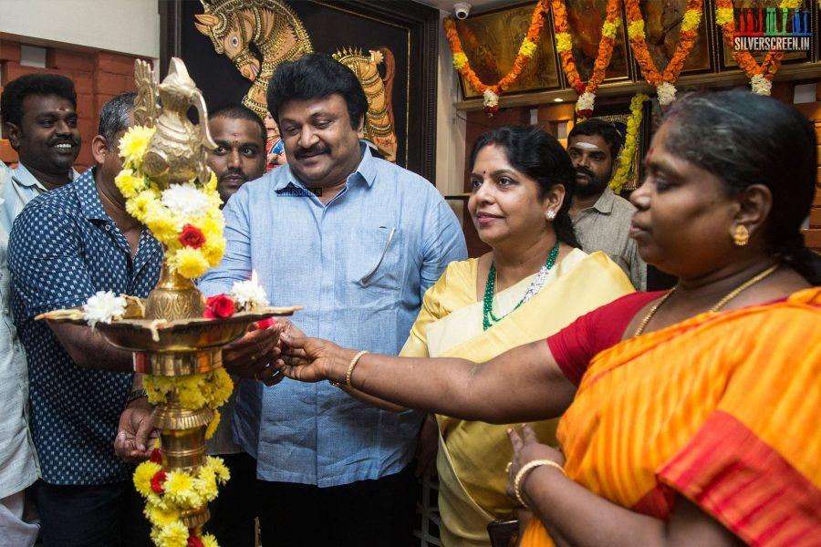 Prabhu At A Restaurant Launch In Chennai