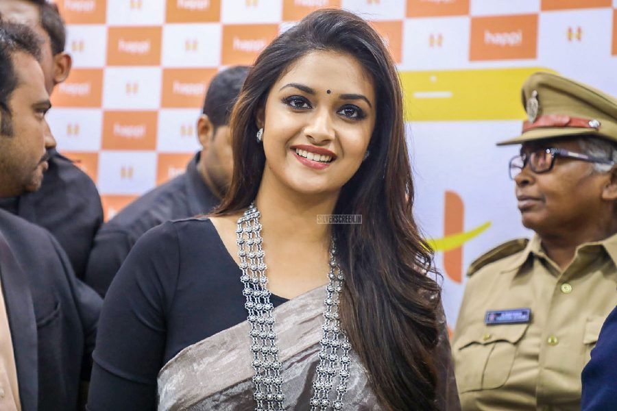 Keerthy Suresh At A Mobile Store Launch