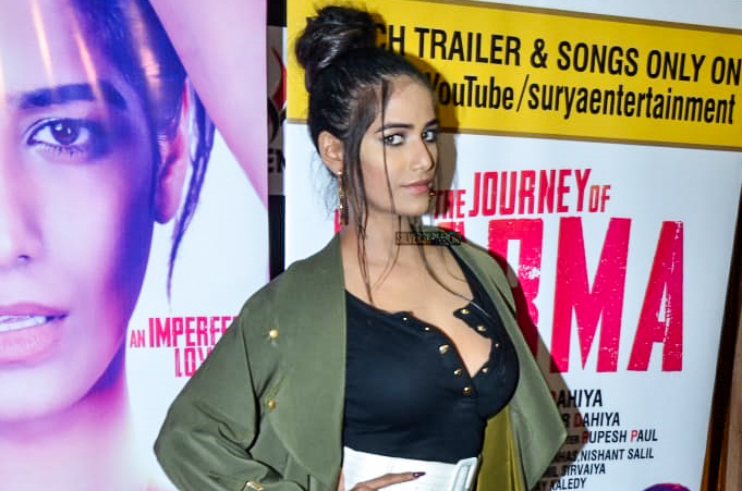 Poonam Pandery Promotes 'The Journey Of Karma'