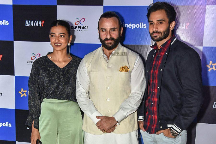 Saif Ali Khan, Radhika Apte Promote Baazaar In Delhi