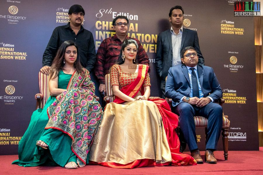 Sanam Shetty At The Chennai International Fashion Week Press Meet