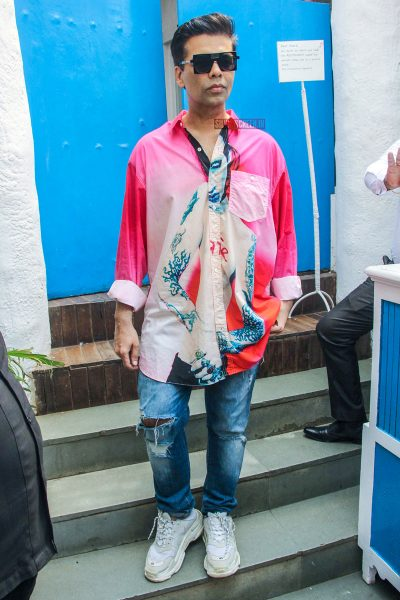 Karan Johar At Neha Dhupia's Baby Shower Function