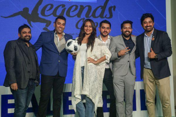 Sonakshi Sinha & Rannvijay Singh At A Soccer Event