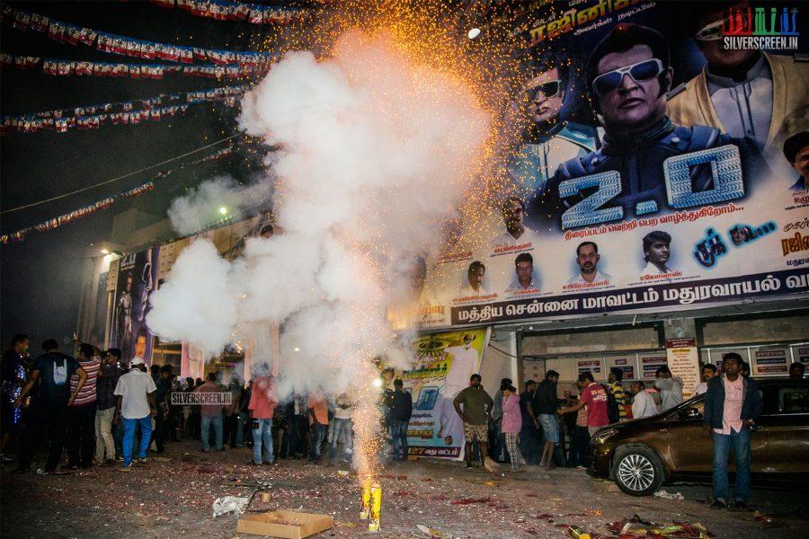 2.0 FDFS Celebrations At Rohini Silver Screen Theatre