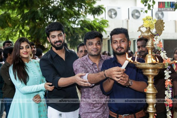 Mahat Raghavendra, Yaashika Aanand At The 'Bharathan Pictutes Production No 2' Movie Launch