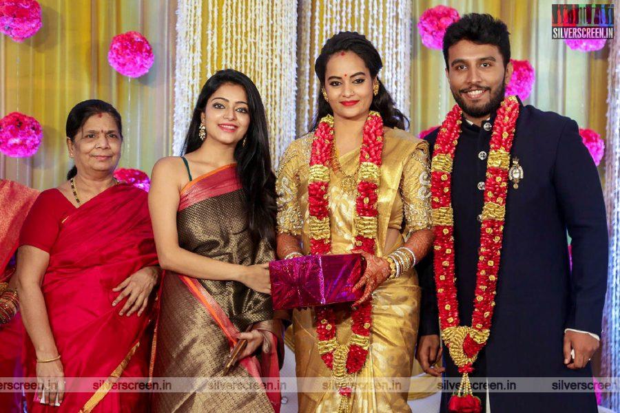 Janani Iyer At The Suja Varunee & Shivakumar Wedding Reception