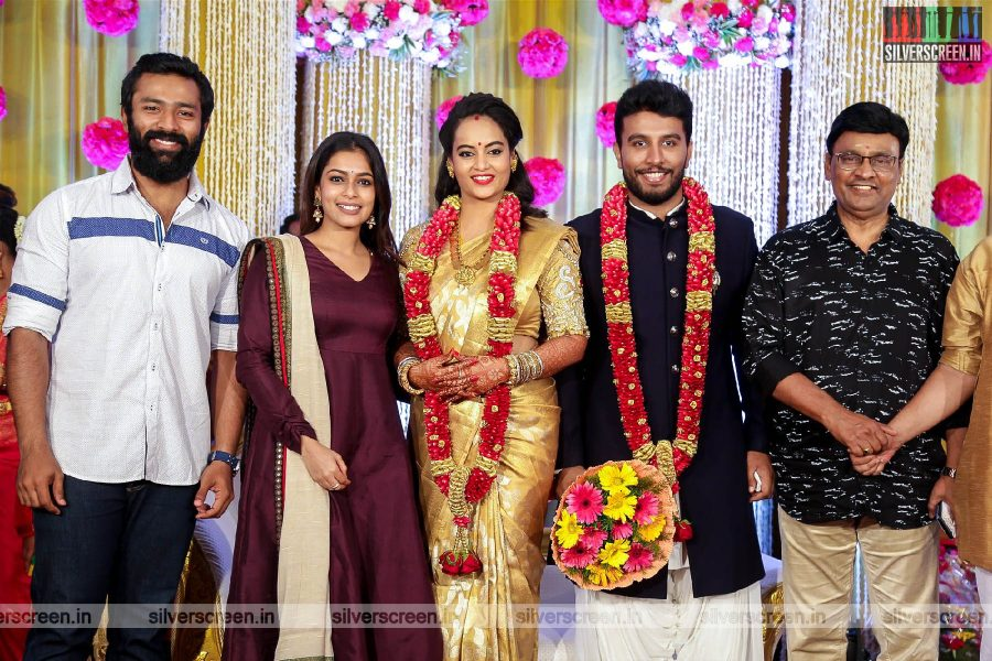 Shanthanu, K Bhagyaraj At The Suja Varunee & Shivakumar Wedding Reception