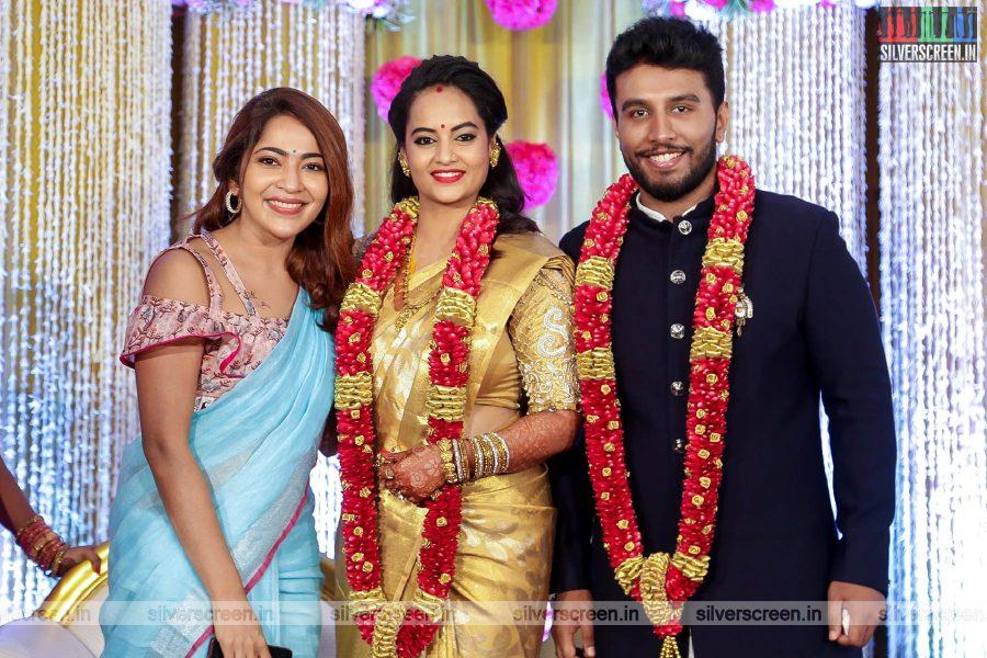 VJ Ramya At The Suja Varunee & Shivakumar Wedding Reception