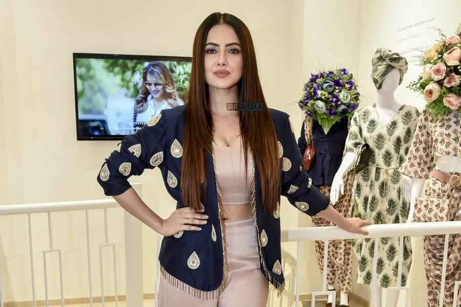 Sana Khan At A Store Launch