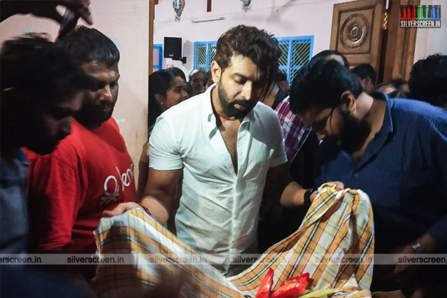 In Pictures: Actor Arun Vijay Funds Gaja Relief
