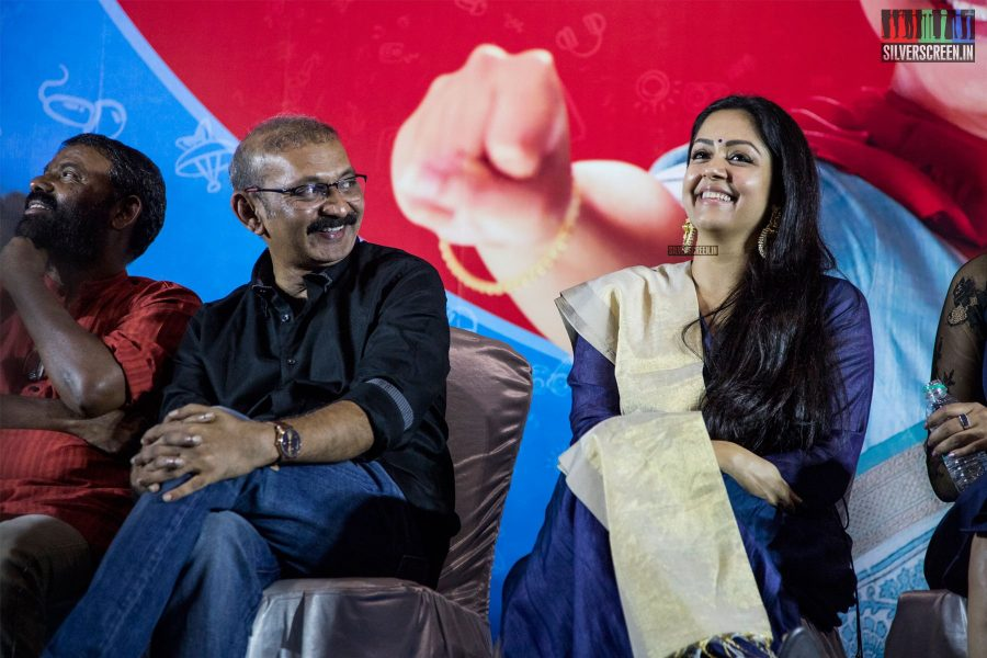Jyothika, Radha Mohan At The 'Kaatrin Mozhi' Press Meet