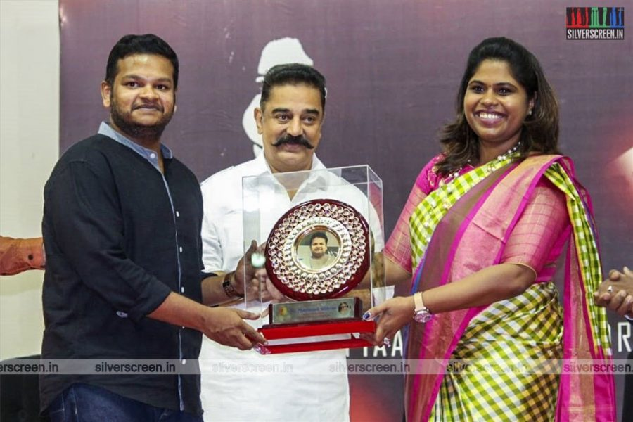 Kamal Haasan, M Ghibran At The 'Get Your Freaking Hands Off Me' Album Launch