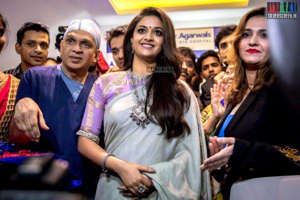 Keerthy Suresh At The Inauguration Of An Eye Hospital In Chennai