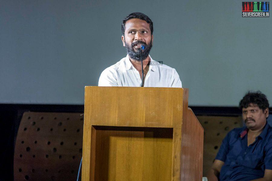 Vetrimaaran At The Pariyerum Perumal Review Meet