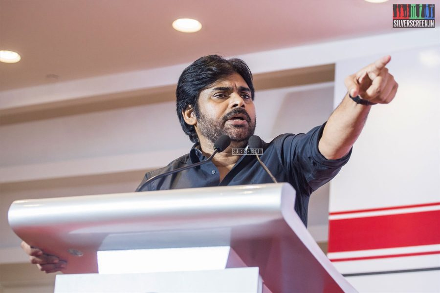 Pawan Kalyan In Chennai At The Jana Sena Party Meet