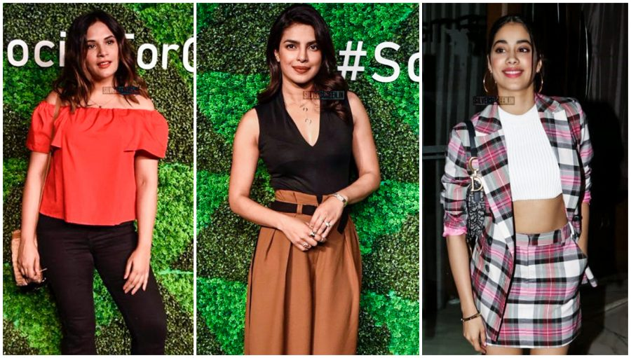 Richa Chadda, Priynaka Chopra, Jhanvi Kapoor At The 'Social For Good' Event