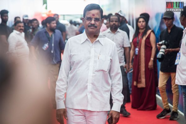 Kalaipuli S Thanu At The 2.0 Trailer Launch