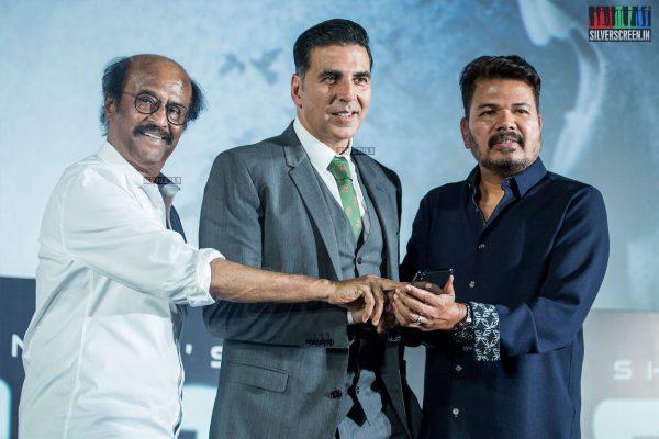 Rajinikanth, Shankar, Akshay Kumar At The 2.0 Trailer Launch