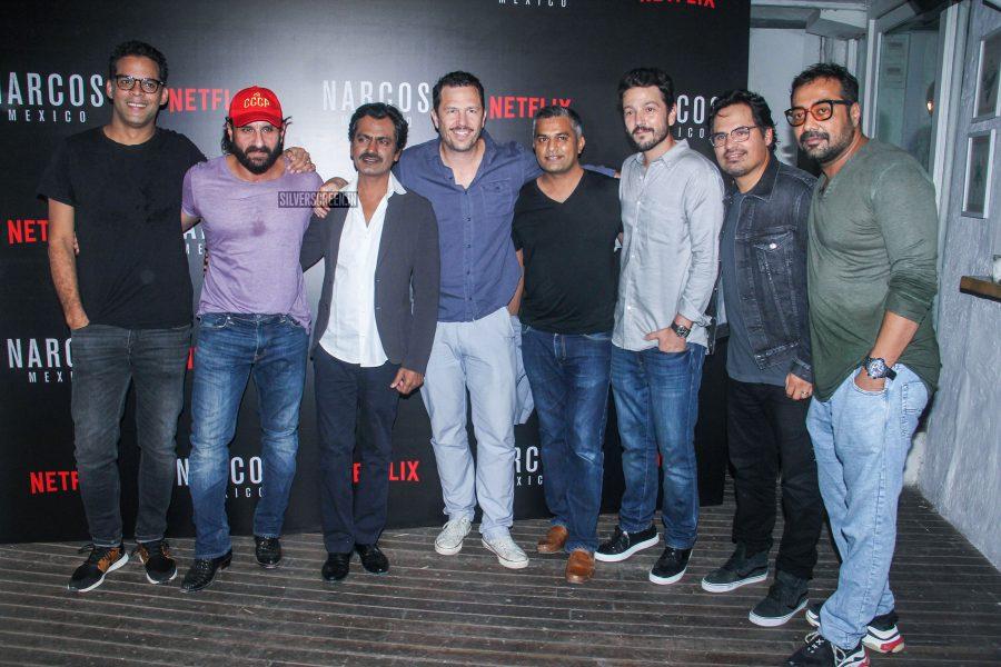 Saif Ali Khan, Nawazuddin Siddiqui, Anurag Kashyap And Others At The 'Narcos: Mexico' Bash