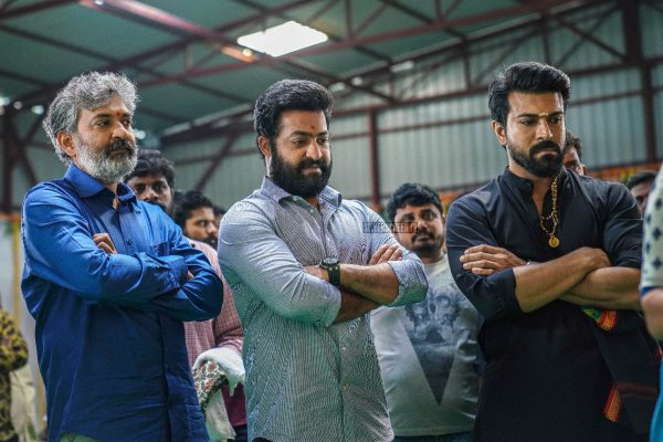 Junior NTR, Ram Charan, SS Rajamouli At The RRR Movie Launch