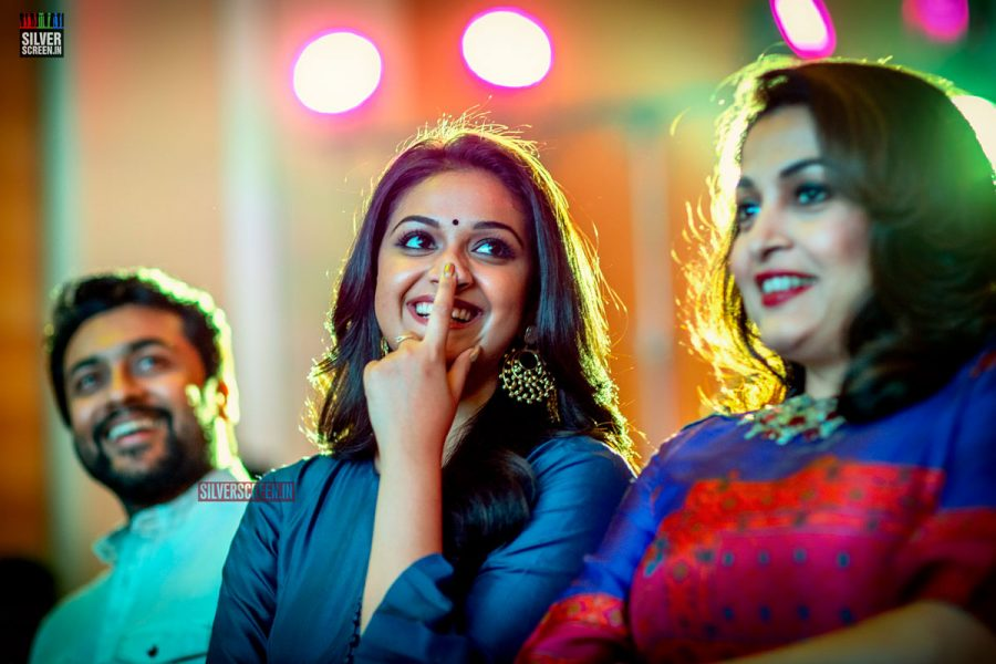 Keerthy Suresh at an event for<em> Thaana Serndha Kootam</em>. Our Performance Of The Year award would certainly belong to her for her turn as actress Savithri in <em>Nadigaiyar Thilagam</em>. <strong>Pic: Dani Charles</strong>