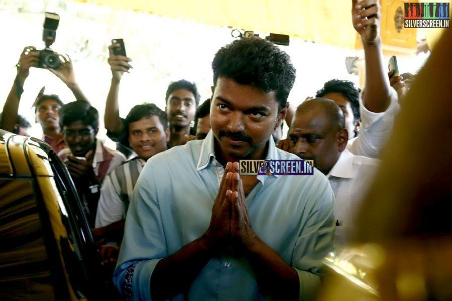 Vijay at the Vijay59-Atlee Movie Launch Photos