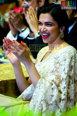 Actress Deepika Padukone Solo Photos from the Happy New Year Promo in Chennai