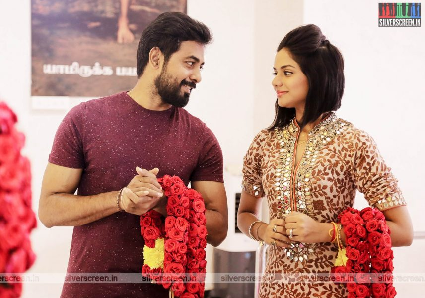 Aishwarya Dutta, Aari At The 'Kadhal Vs Kadhal' Movie Launch