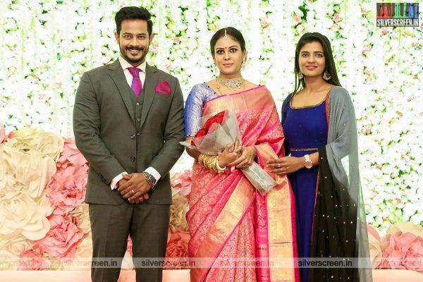 Aishwarya Rajesh At Chandini Tamilarasan Wedding Ceremony