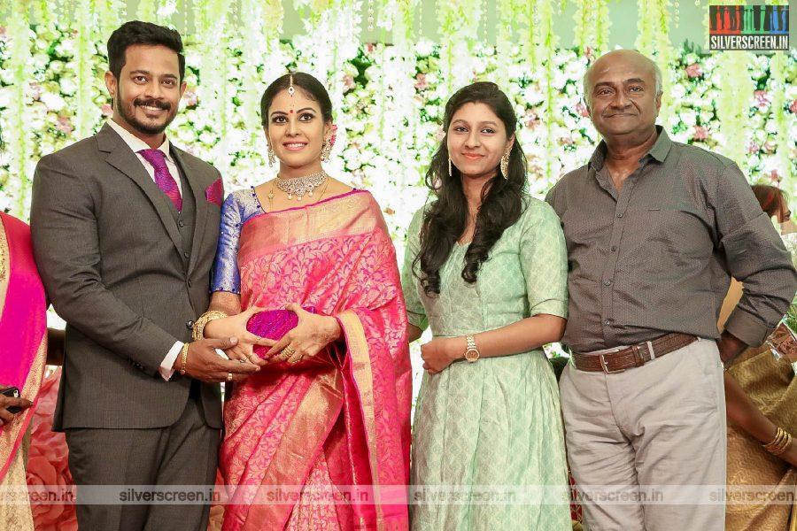 MS Bhaskar At Chandini Tamilarasan Wedding Ceremony