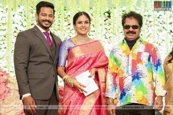 R Pandiarajan At Chandini Tamilarasan Wedding Ceremony
