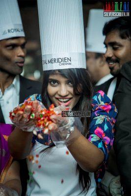 Aishwarya Rajesh at  Christmas Cake Mixing Ceremony
