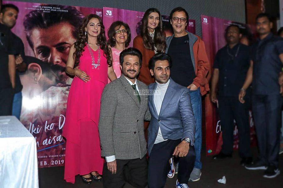 Anil Kapoor, Sonam Kapoor. Rajkummar Rao, Juhi Chawla At The 'Ek Ladki Ko Dekha Toh Aisa Laga' Trailer Launch