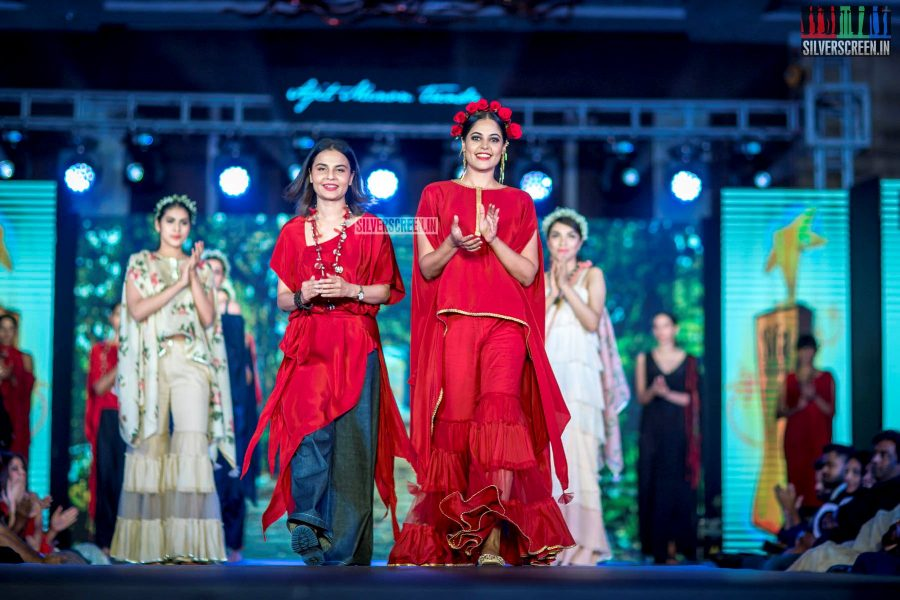 Bindu Madhavi At The  South Indian Fashion Awards 2018 In Chennai