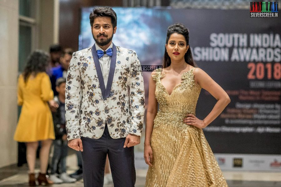 Raiza Wilson, Harish Kalyan At The  South Indian Fashion Awards 2018 In Chennai