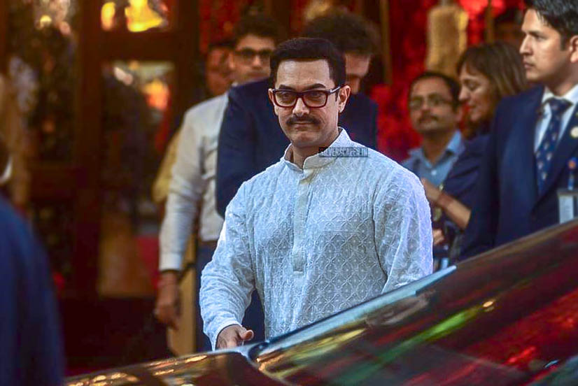 Aamir Khan At Isha Ambani–Anand Piramal Wedding Ceremony