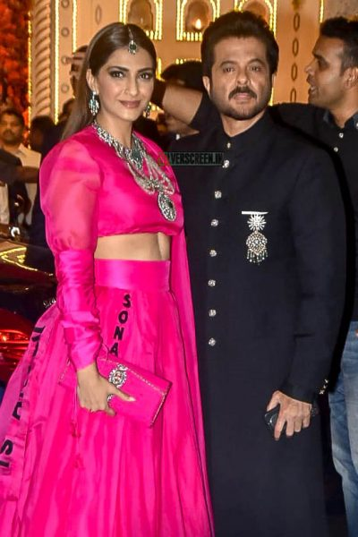 Sonam Kapoor, Anil Kapoor At Isha Ambani–Anand Piramal Wedding Ceremony