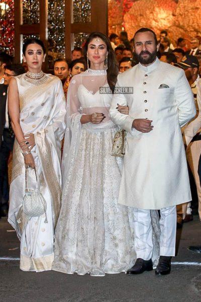 Karisma Kapoor, Kareena Kapoor, Saif Ali Khan At Isha Ambani–Anand Piramal Wedding Ceremony