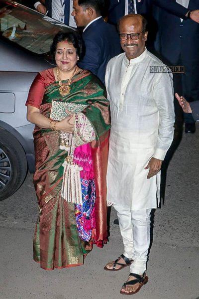 Rajinikanth, Latha Rajinikanth At Isha Ambani–Anand Piramal Wedding Ceremony